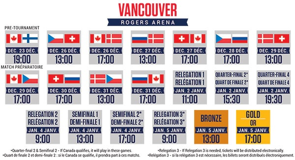 Vancouver Schedule